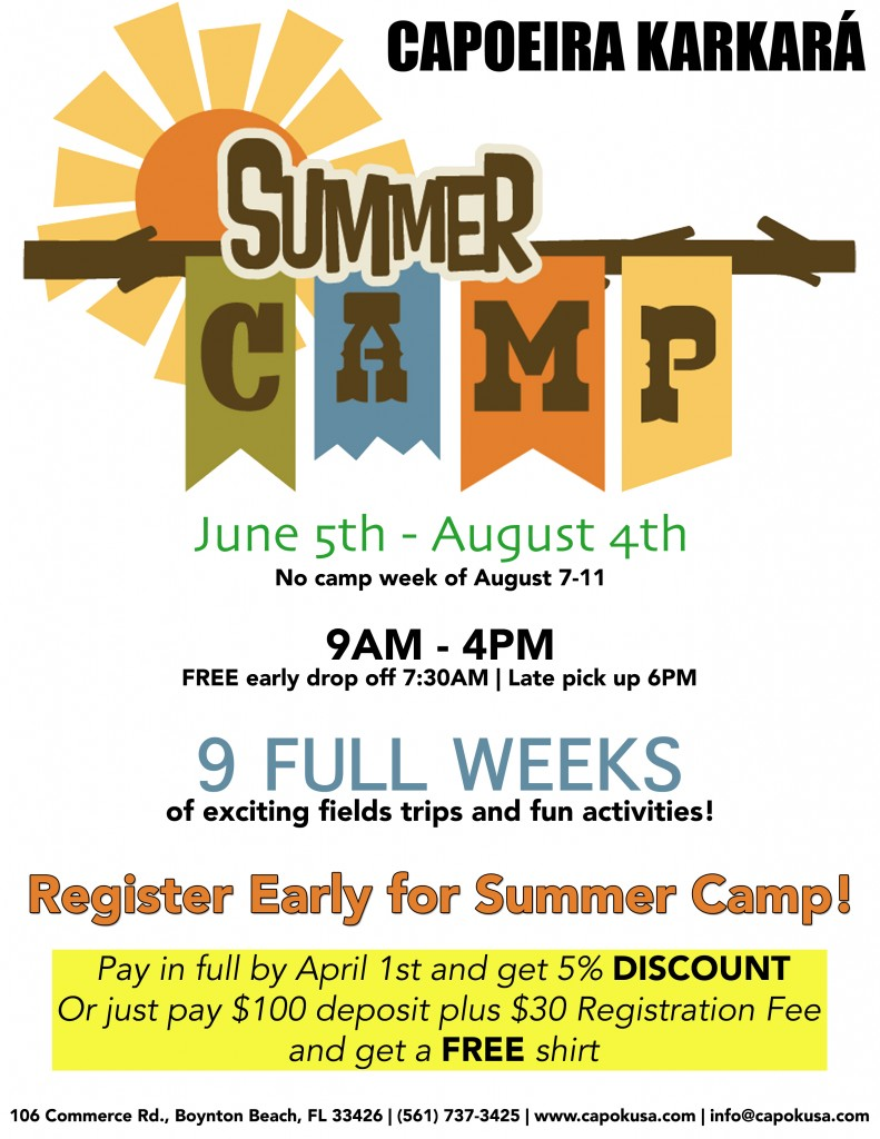 Capoeira Karkara Summer Camp Flyer